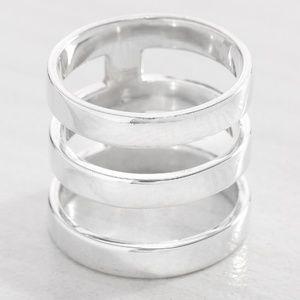 SILPADA Silver Contemporary Art Ring R3135